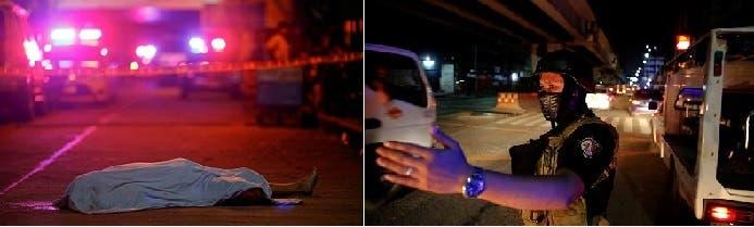 رجال الشرطة يظهرون ملثمين، والقتلى أحيانا بالشوارع في مانيلا وغيرها