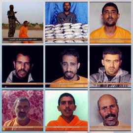 ضحايا إعدامات داعش في سيناء