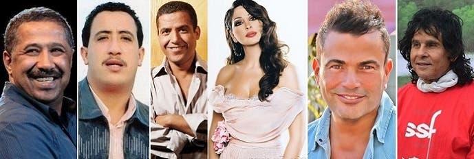 علي حميدة وعمرو دياب وأليسا والشاب مامي والشاب حسني والشاب خالد، الأكثر مبيعا حتى فبراير الماضي