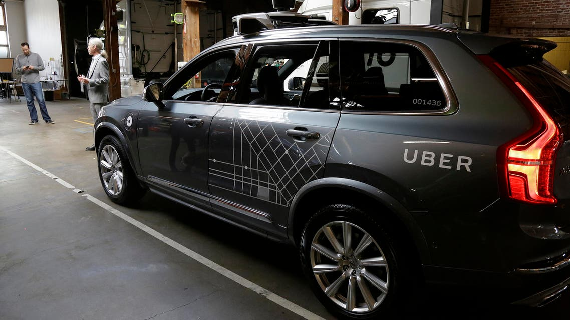 In this photo taken Tuesday, Dec. 13, 2016, an Uber driverless car is displayed in a garage in San Francisco. AP