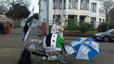 Syrian on hunger strike outside Russian embassy in Netherlands