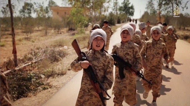 ISIS has released a shocking new video featuring children from Kazakhstan at a terrorist training camp.