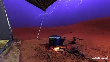 هكذا تبدو صحراء السعودية بعد الأمطار