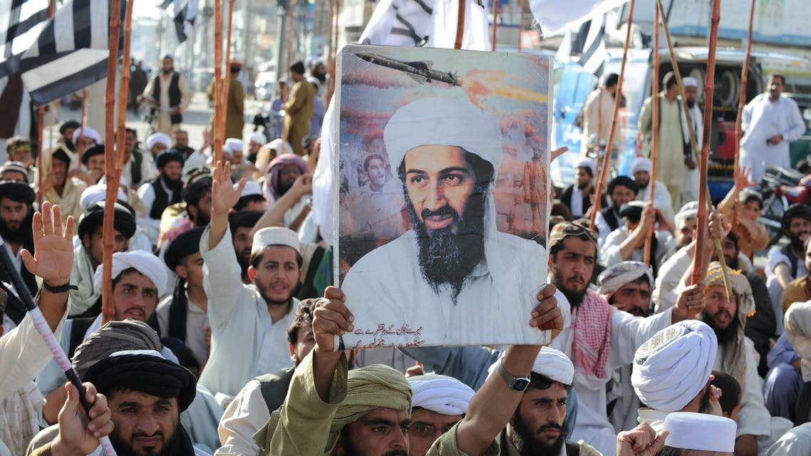 """Supporters of hardline pro-Taliban party Jamiat Ulema-i-Islam-Nazaryati (JUI-N) shout anti-US slogans during a protest in Quetta on May 2, 2011 after the killing of Osama Bin Laden by US Special Forces in a ground operation in Pakistan's hill station of Abbottabad. Pakistan said that the killing of Osama bin Laden in a US operation was a """"major setback"""" for terrorist organisations and a """"major victory"""" in the country's fight against militancy. AFP"""