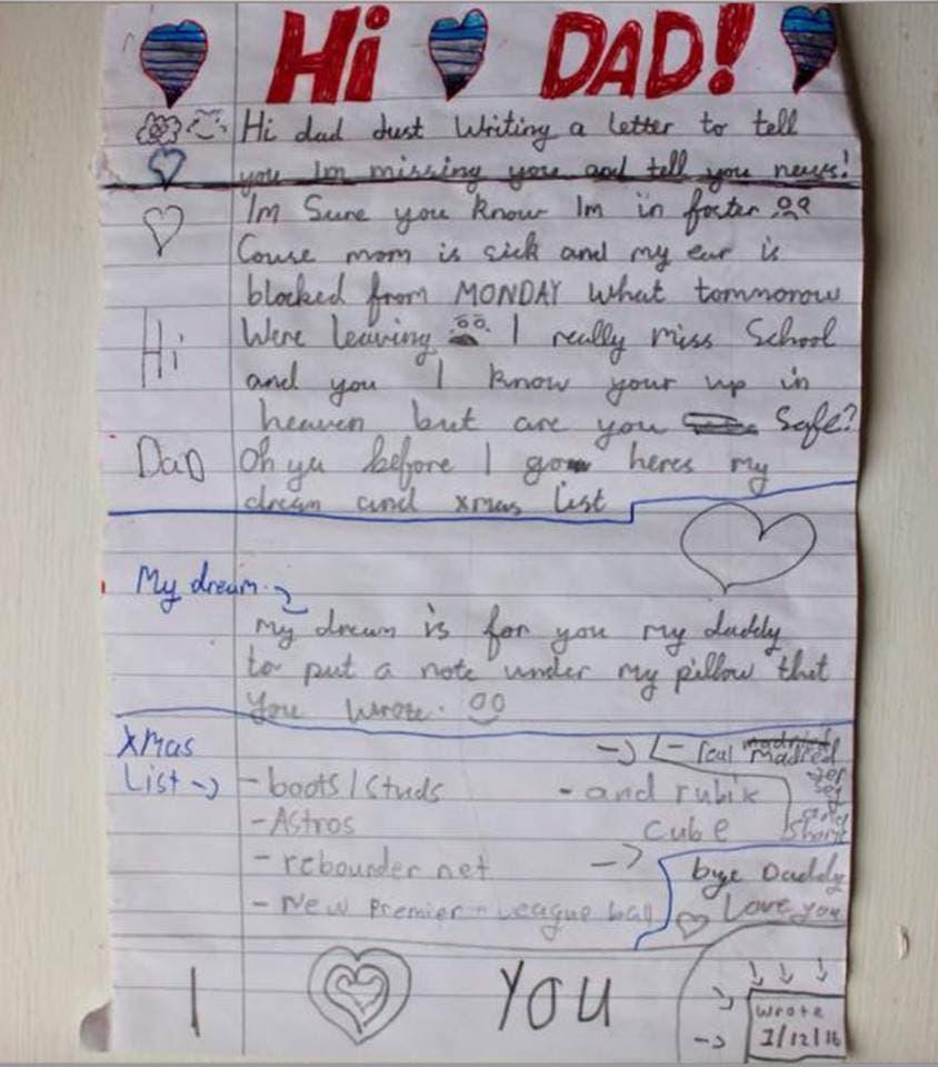 child letter