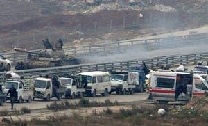 من عمليات الاجلاء في حلب الجمعة