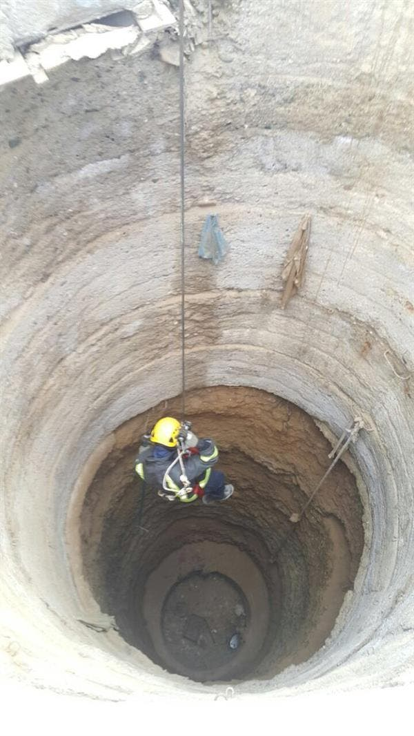 The civil defense team shared photos on Twitter of the rescue operation