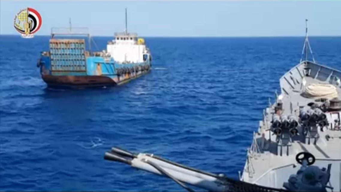 screen grab egypt iran boat