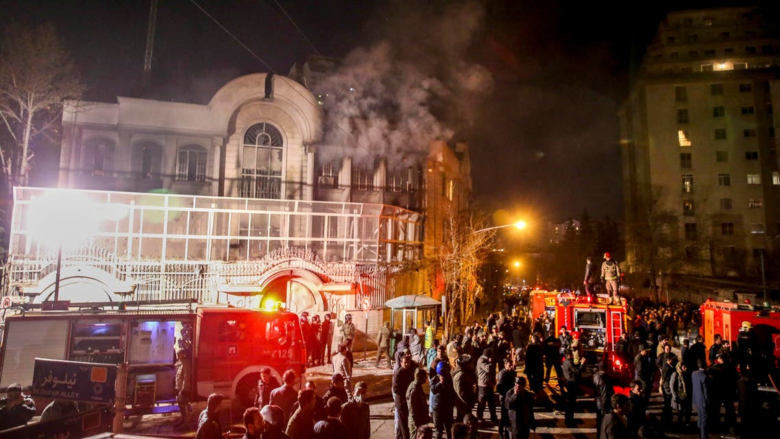 In the audio recording, the alleged mastermind of the attack, Hassan Kurdmihan, can be heard in a series of calls as he directed members of the Basij and Revolutionary Guards to burn the embassy and seize all documents. (AP)