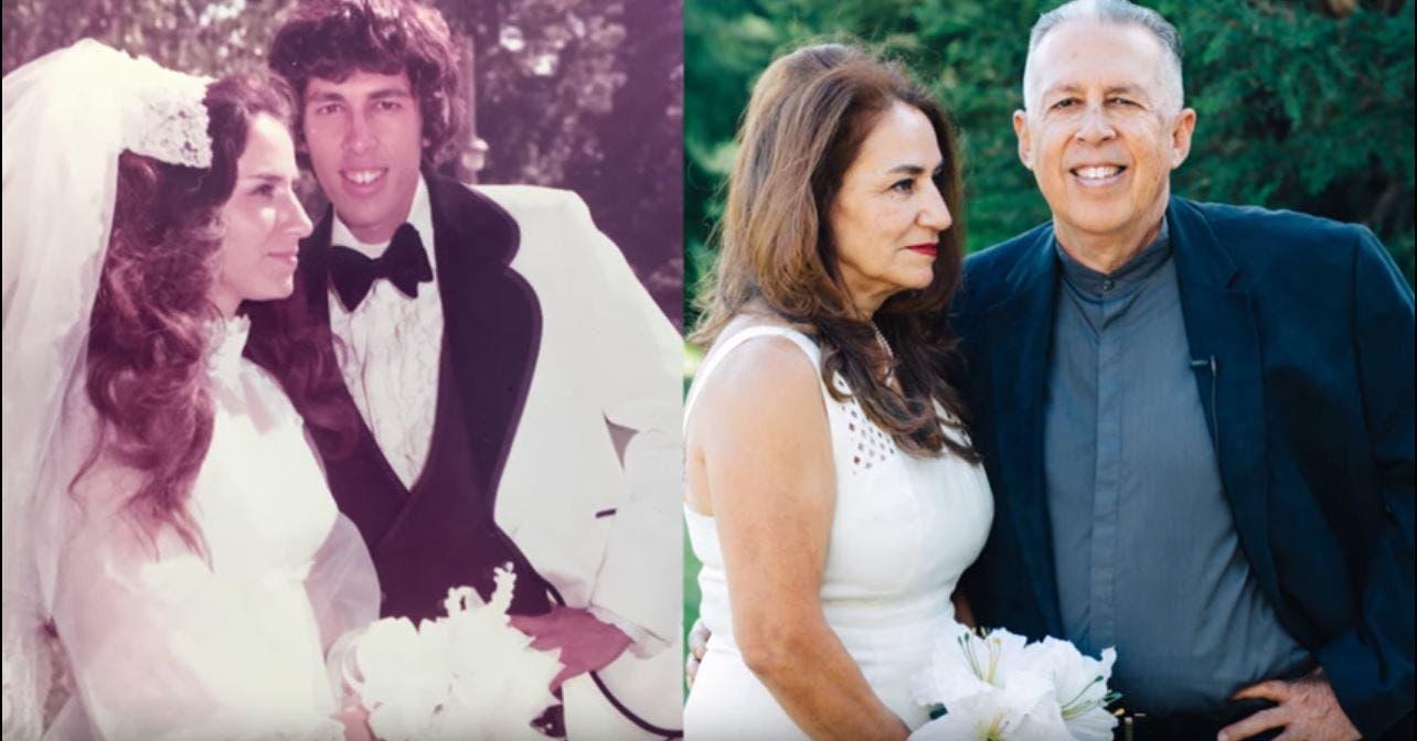 الصورة نفسها بعد 42 عاماً من الزواج