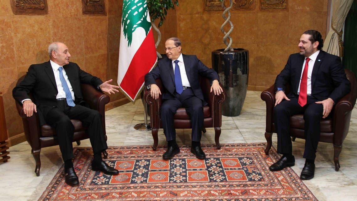 الحريري - عون - بري - لبنان 3