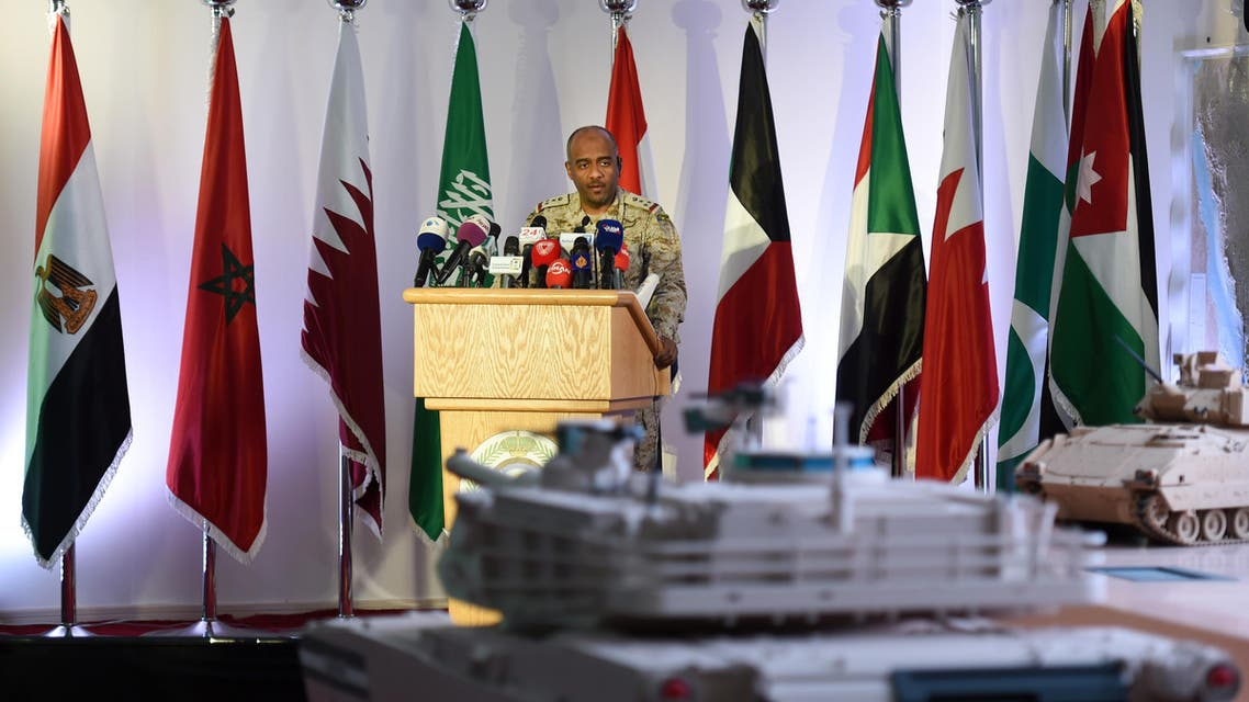 Arab coalition spokesman says it was used only to defend Saudi towns and villages against continuous attacks by Houthi militia. (AFP)