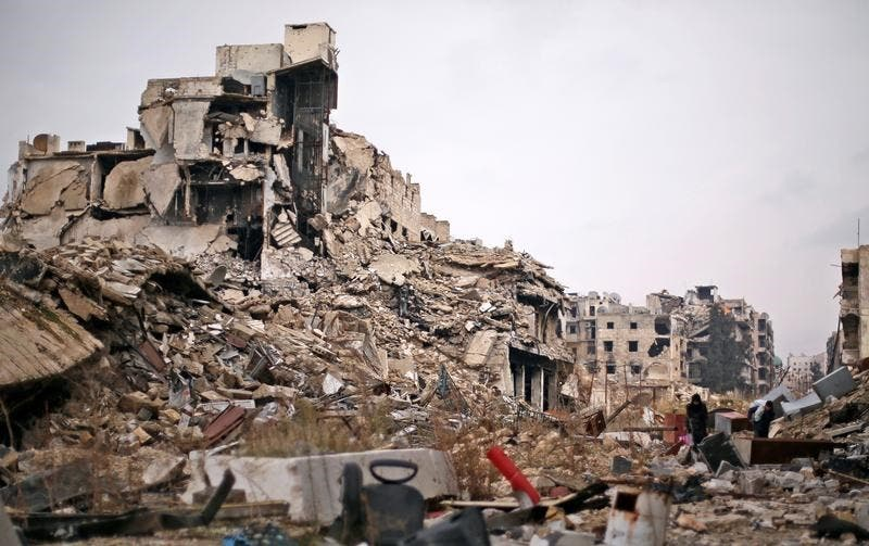 مشاهد الدمار في حلب