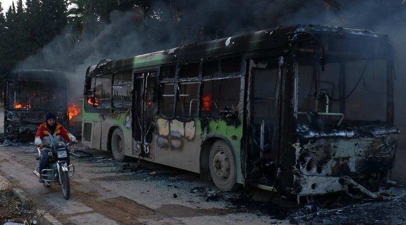 إضرام النار في الحافلات
