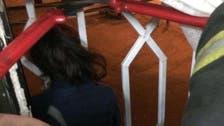 Saudi civil defense unit rescues child stuck between window bars