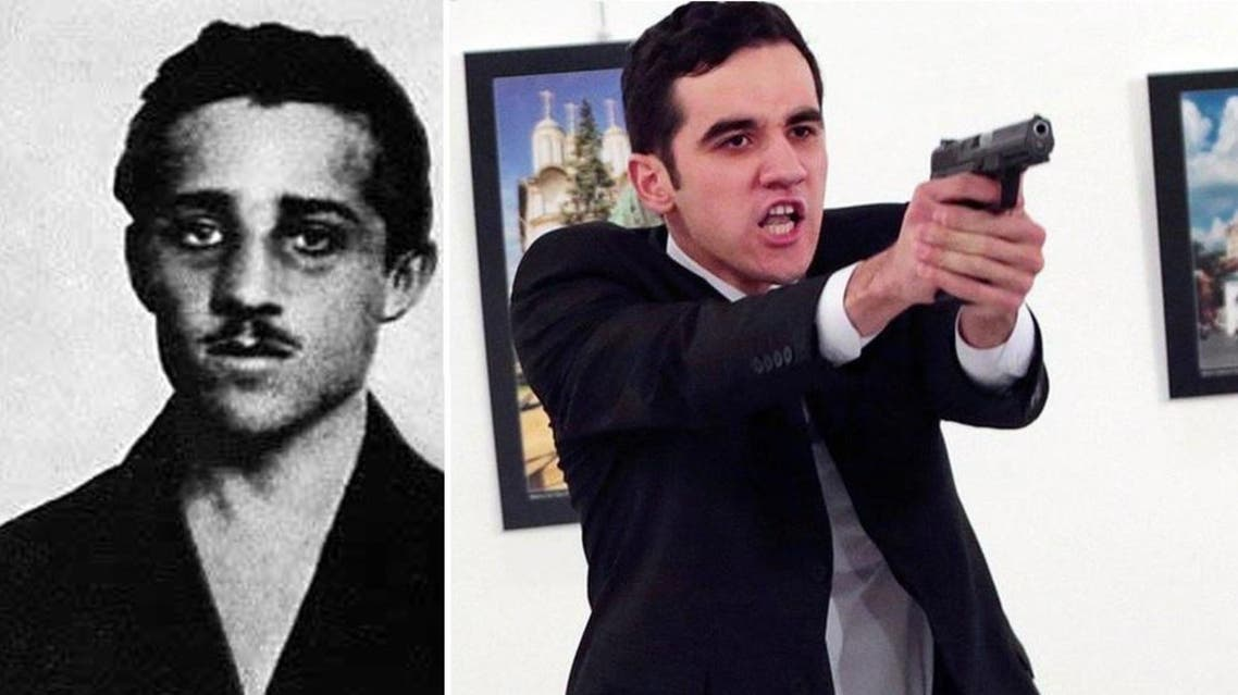 Killing of Russian ambassador seen as reminiscent to the assassination of Archduke Franz Ferdinand, which sparked World War One. (AP/ AFP)