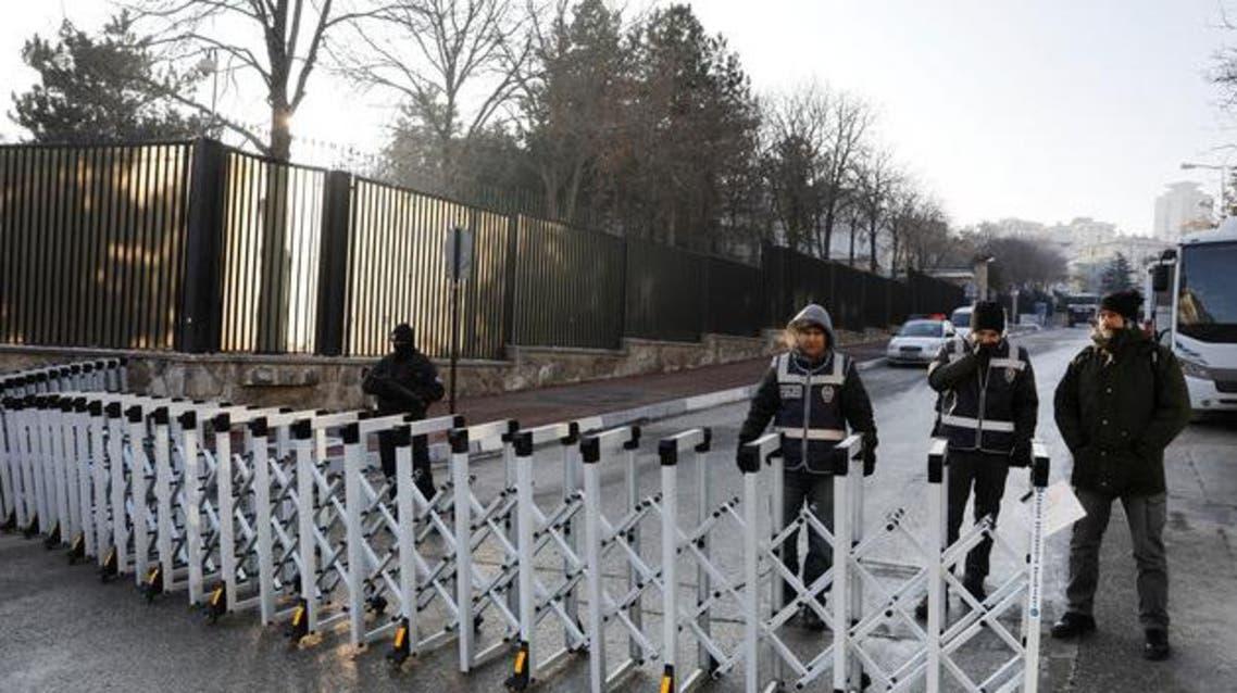 طوق أمني حول مقر السفارة الروسية في أنقرة