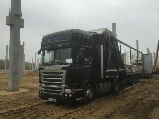 صورة الشاحنة بحسب موقع الشركة