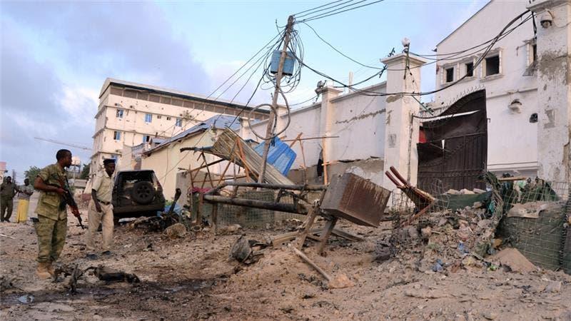 حمله شبهنظامیان گروه الشباب به هتل مکه مکرمه در شهر موگادیشو