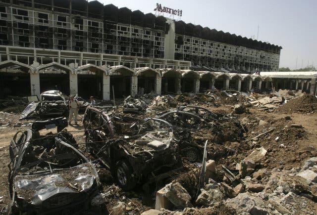 هتل ماریوت اسلام پس از حمله گروه موسوم به «فدائیان اسلام»