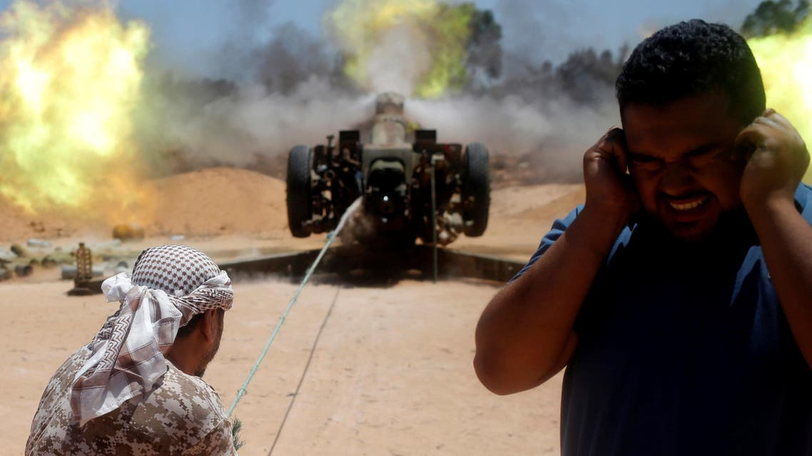 Libyan forces allied with the U.N.-backed government fire a 122 MM artillery towards ISIS fighters positions in Sirte, Libya, July 24, 2016. (Reuters)