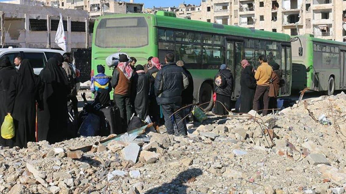 من عمليات الاجلاء في حلب