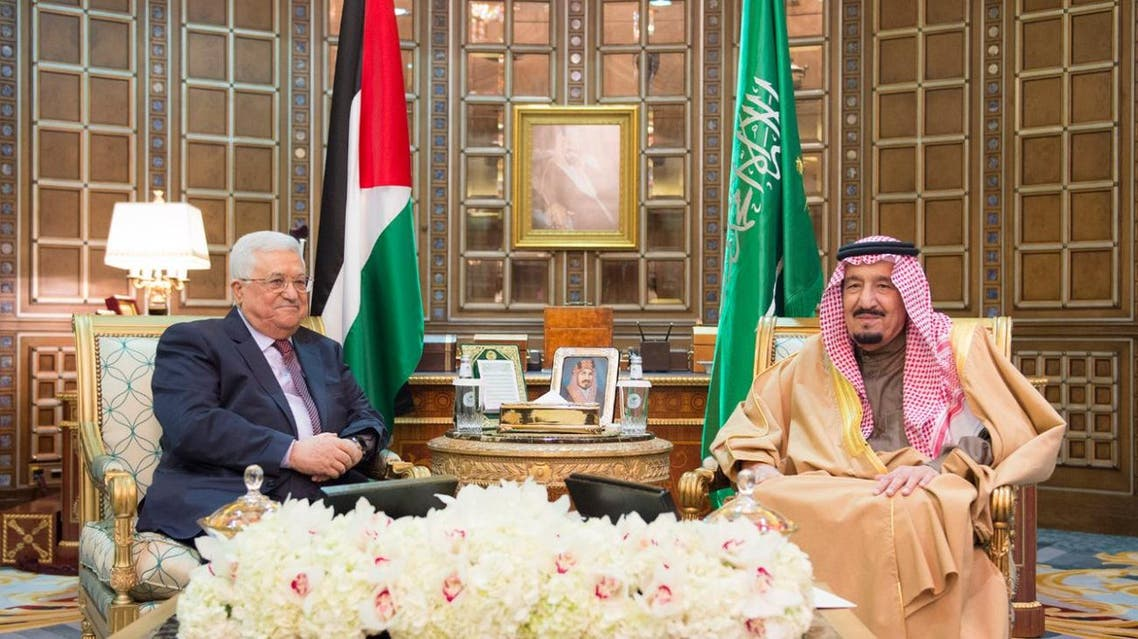 Saudi King Salman bin Abdulaziz Al Saud received President of Palestine Mahmoud Abbas at at Al-Yammamh Palace on Wednesday.  The king welcomed Palestinian President and his accompanying delegation to the Kingdom of Saudi Arabia. For his part, Abbas, expressed his happiness to meet the king, praising the stances of the Kingdom of Saudi Arabia and which have been supporting the Palestinian cause since the era of the Founder King Abdulaziz.  Following that, the two leaders reviewed the latest developments in the Palestinian territories.  The reception was attended by Prince Faisal bin Bandar bin Abdulaziz, Governor of Riyadh region, and Prince Dr. Mansour bin Miteb bin Abdulaziz, Minister of State, Cabinet Member, Advisor to Custodian of the Two Holy Mosques, Prince Miteb bin Abdullah bin Abdulaziz, Minister of the National Guard, Prince Mohammed bin Naif bin Abdulaziz, Crown Prince, Deputy Premier and Interior Minister, and a number of senior officials. spa
