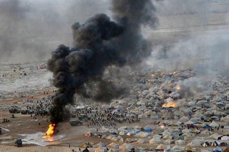 من أحداث مخيم الاحتجاجات الاجتماعية كديم إيزيك في مدينة العيون كبرى مدن إقليم الصحراء الغربية
