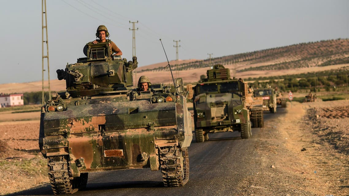 The fighting came as Turkey and allied pro-Ankara Syria rebels faced increasing resistance from the extremists in a battle to take a key town ISIS-held town of Al-Bab. (AFP)