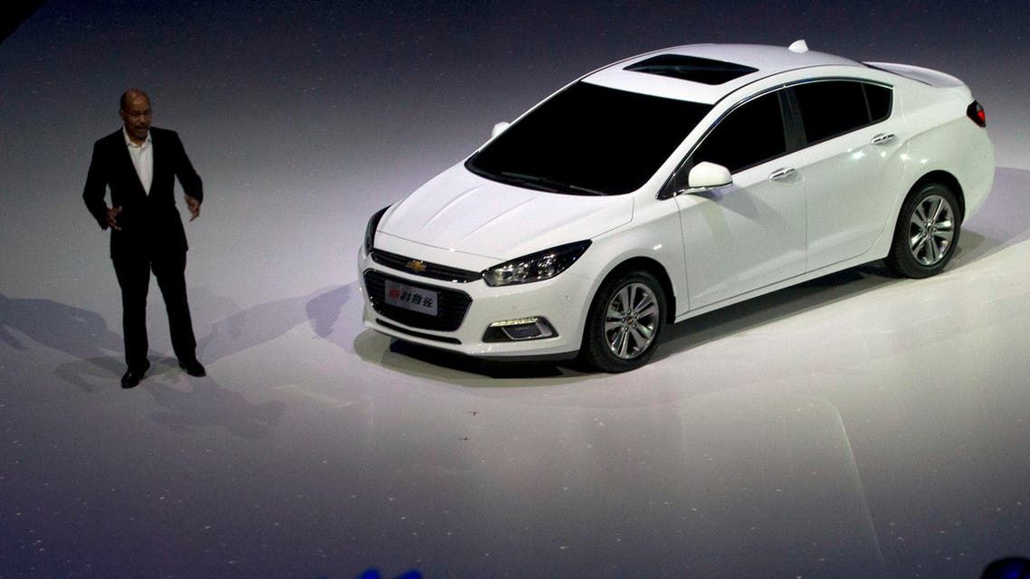 Chevrolet Cruze during a world premiere at an event ahead of Auto China 2014 in Beijing, China, Saturday, April 19, 2014. (AP)