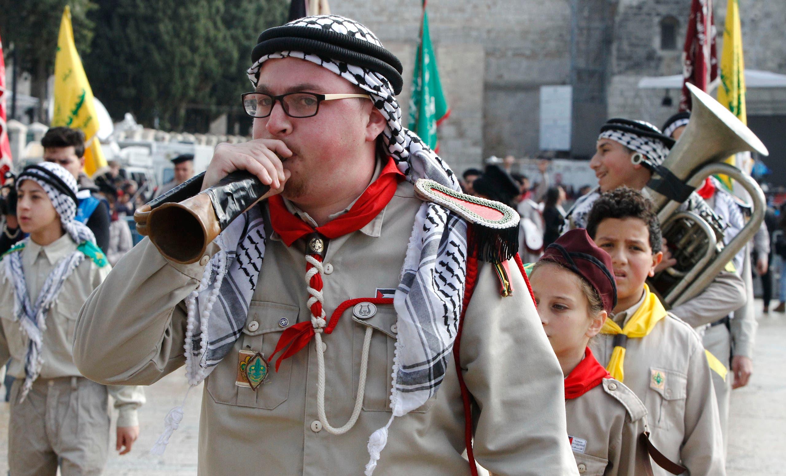 بیت لحم میں کرسمس کی تقریبات کے شرکاء