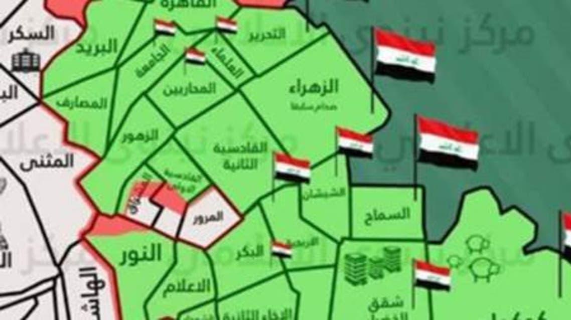 خريطة الاشتباك بين الجيش العراقي وداعش