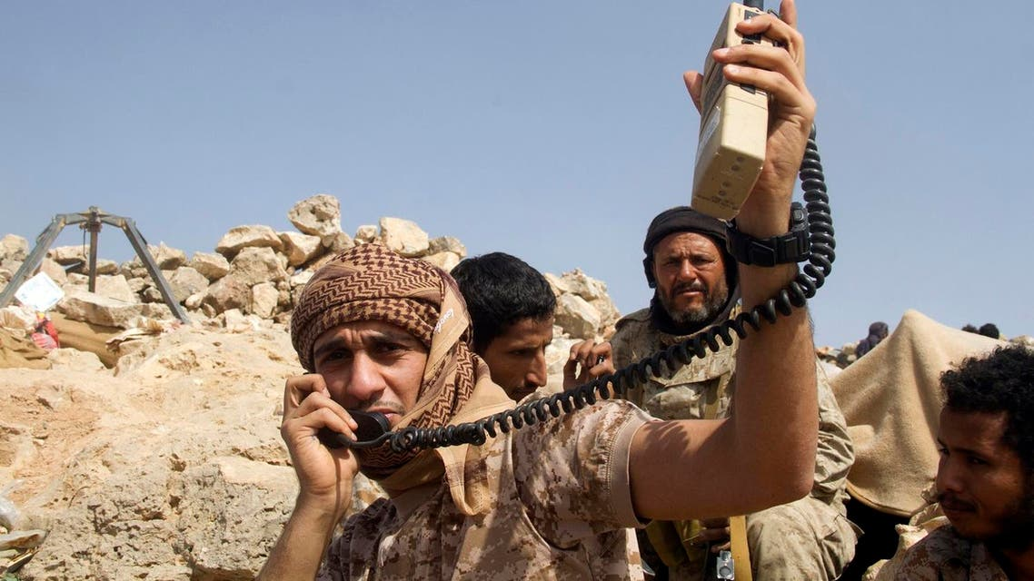Yemen Popular Resistance forces hold position during battle against Houthis militias west of Marib. (File photo: AFP)