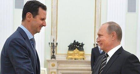 فلاديمير بوتين مع بشار الأسد