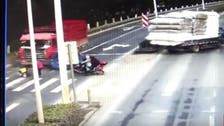WATCH: Toddler miraculously escapes death in truck accident