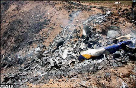 سقوط یک فروند توپولوف درنزدیکی قزوین