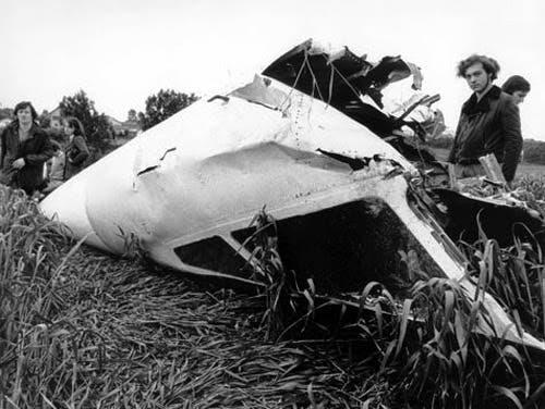 لاشه یک فروند توپولوف که در سال 1973 در نزدیکی پراگ سقوط کرد