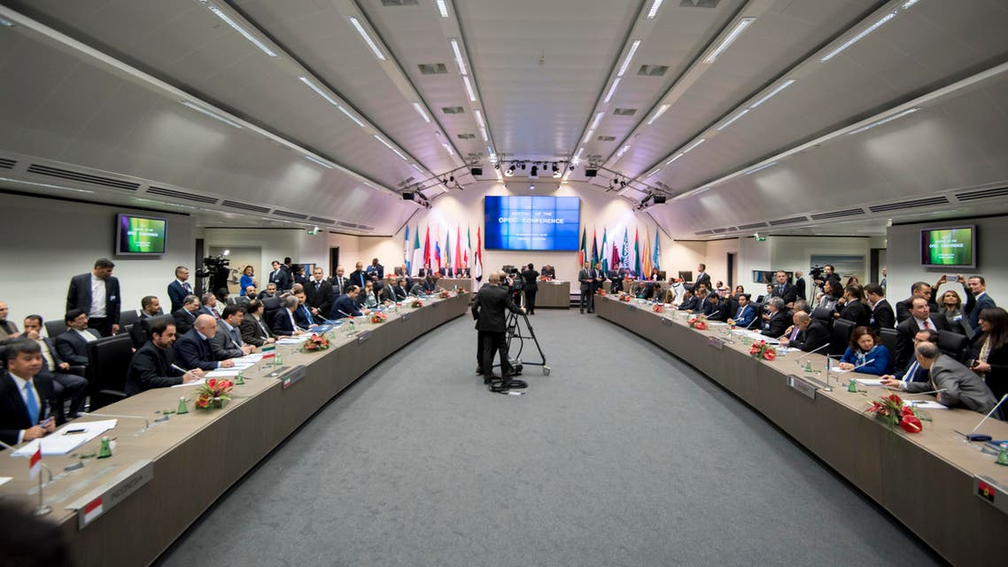 OPEC ministers attend a meeting of the Organization of the Petroleum Exporting Countries, OPEC, at the OPEC headquarters in Vienna, Austria on November 30, 2016. (AFP)