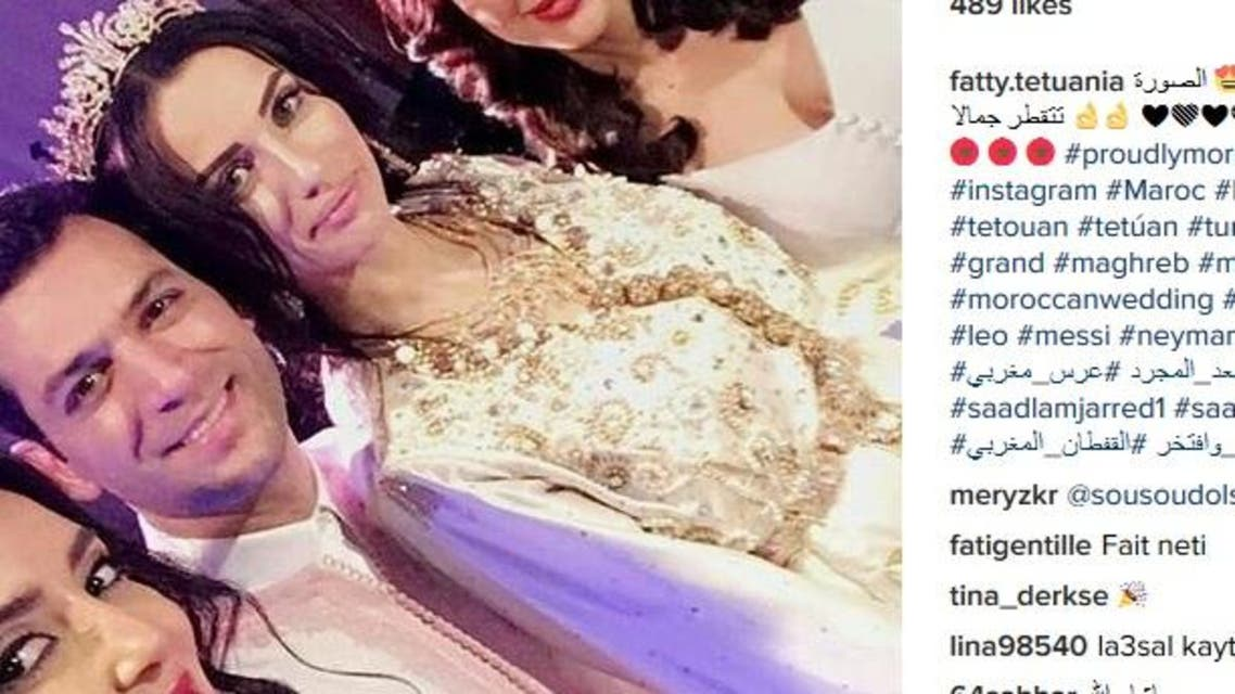 Yildrim married Iman al-Bani, a former Moroccan beauty queen, in a ceremony that saw the couple wear traditional Moroccan wedding outfits. (Instagram)