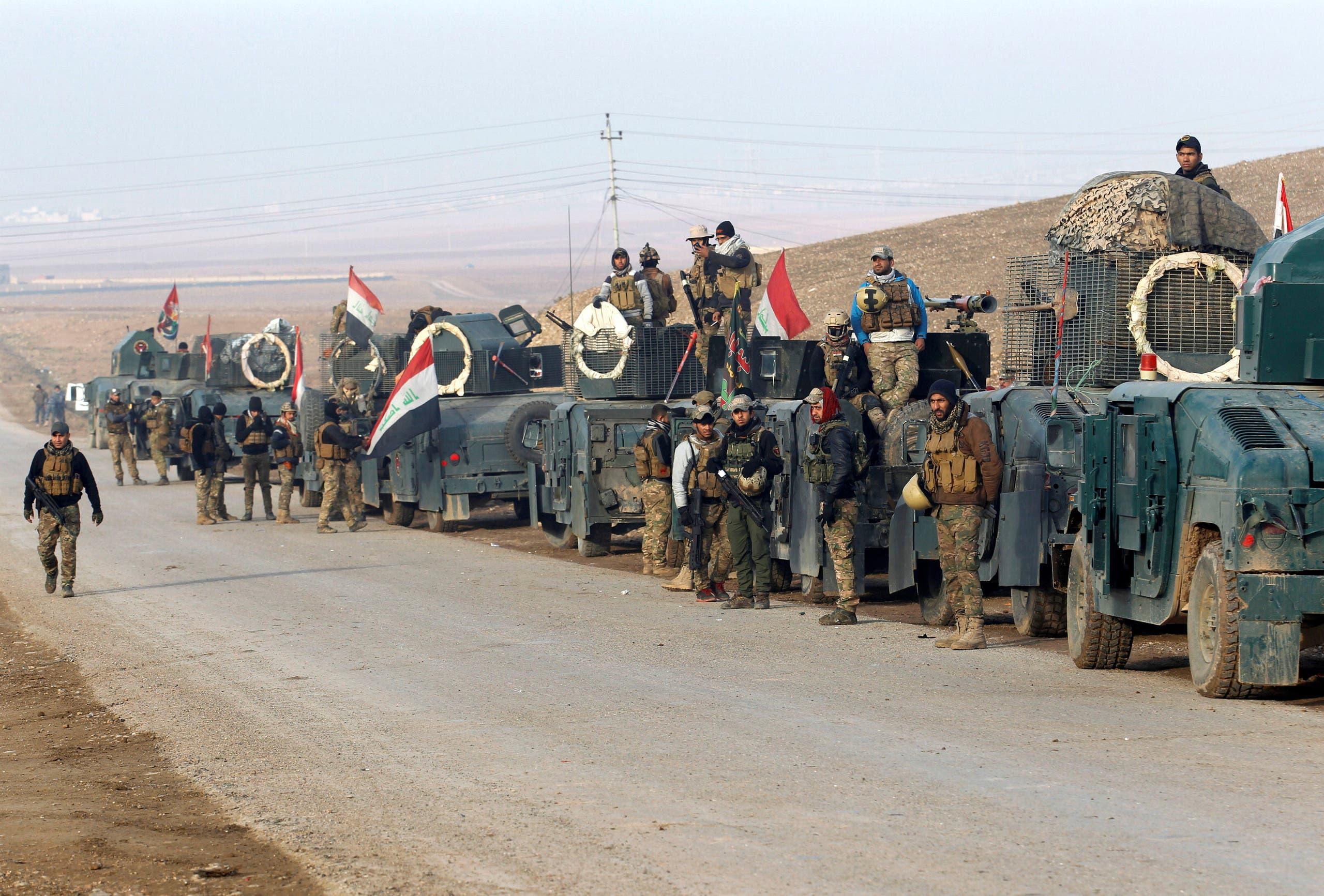 نیروهای واکنش سریع عراق در شرق موصل