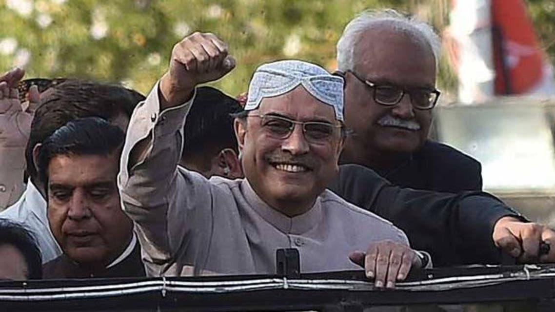 آصف زرداري الرئيس الباكستاني السابق