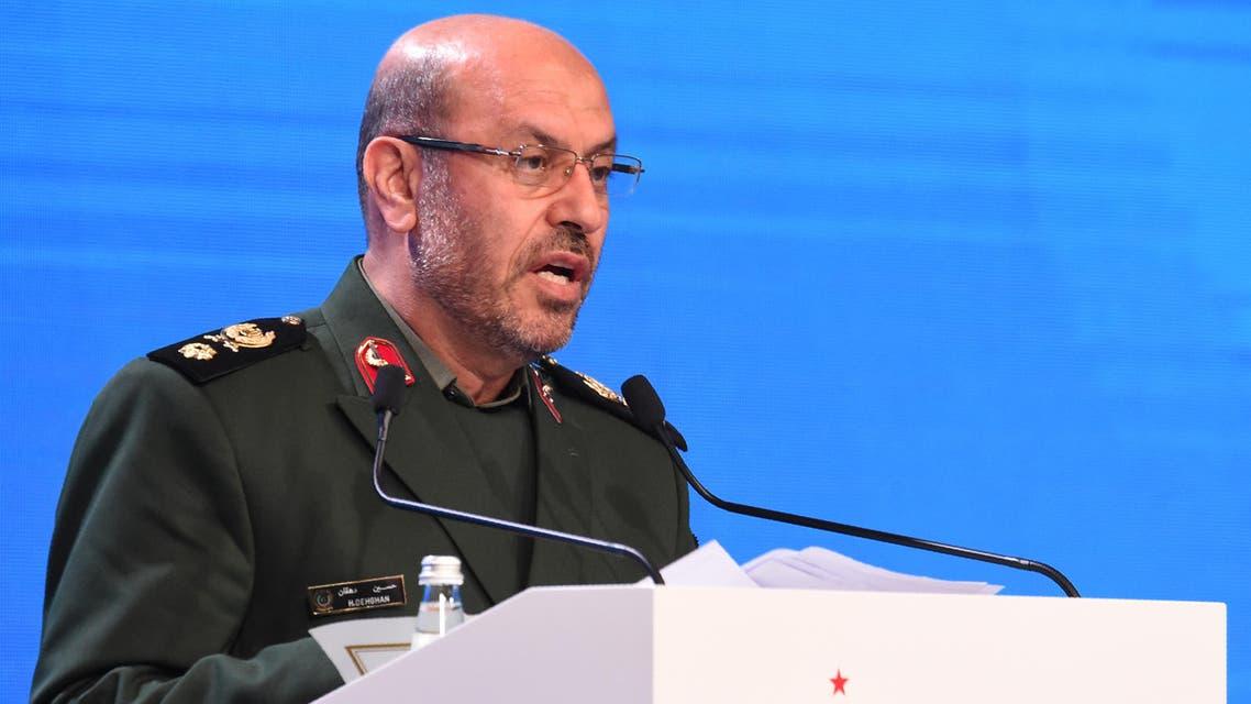 وزير الدفاع الإيراني حسين دهقان في مؤتمر بموسكو في ابريل الماضي