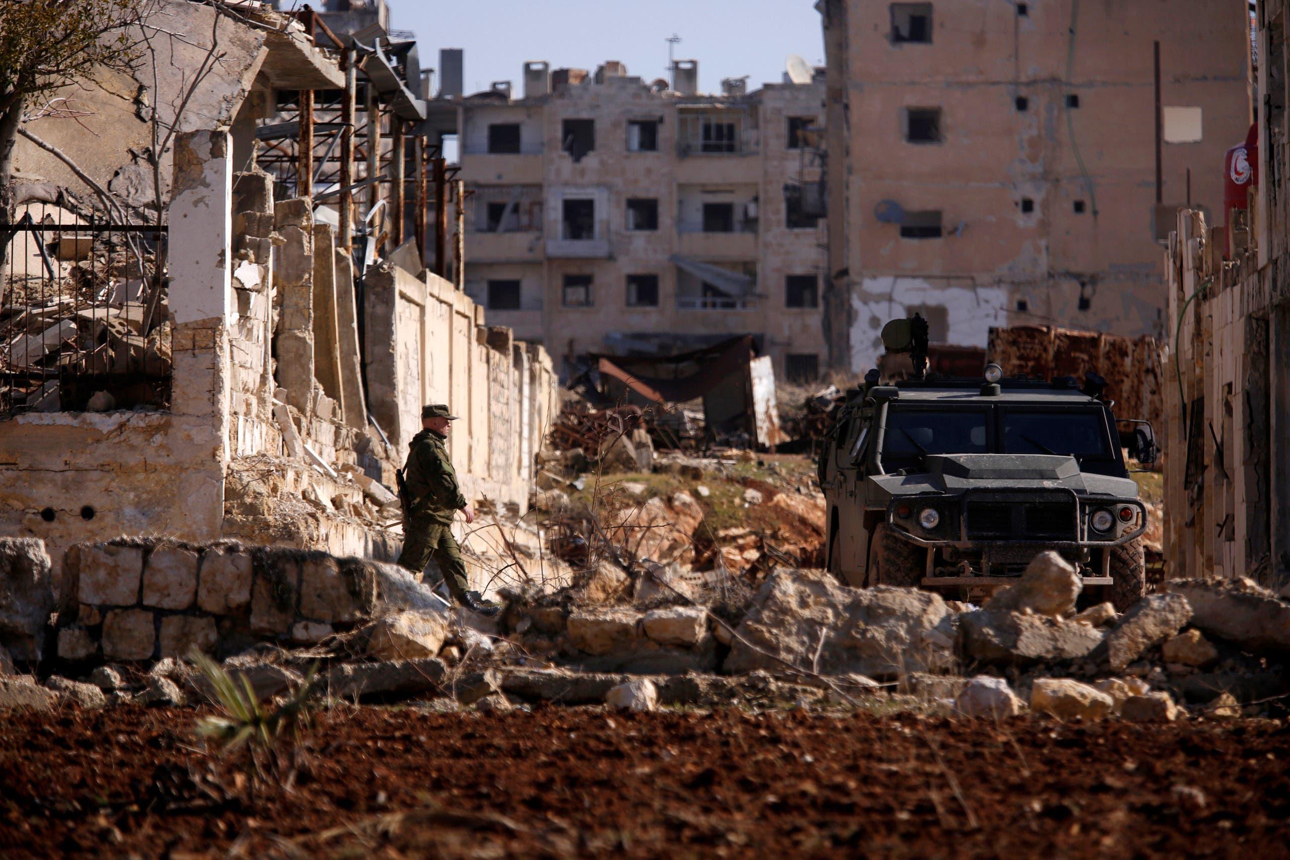 جندي روسي في حلب