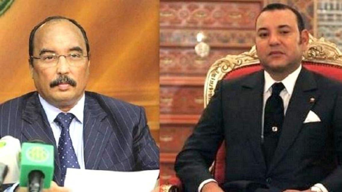 ملك المغرب محمد السادس ورئيس موريتانيا محمد ولد عبد العزيز