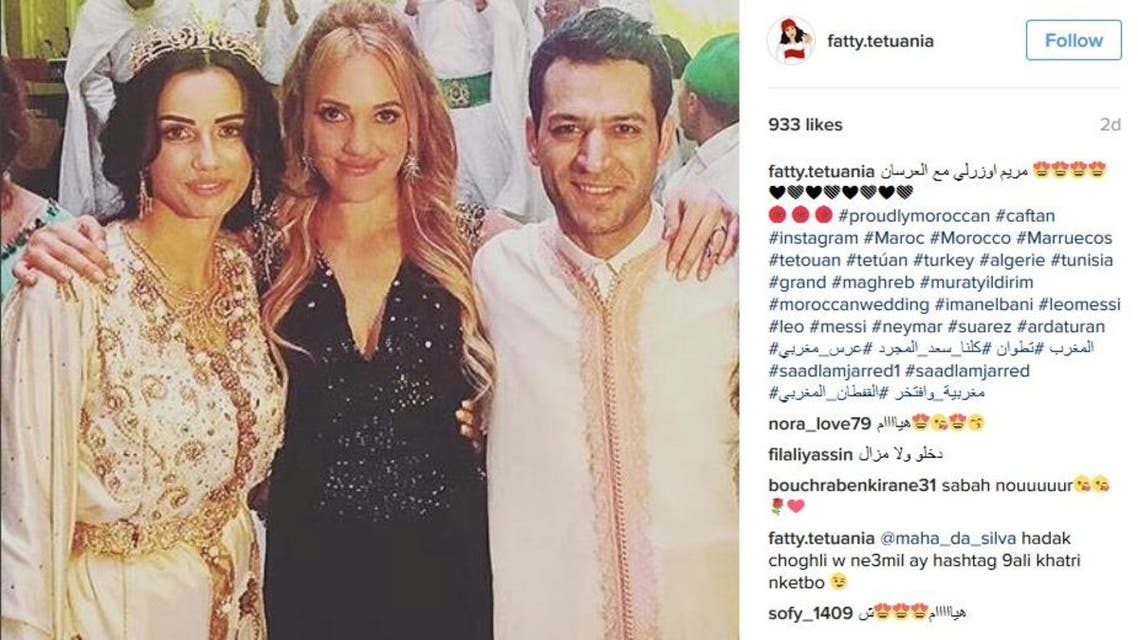 She was attending the wedding of Turkish actor Murat Yildirim, which caused controversy this week. (Instagram)