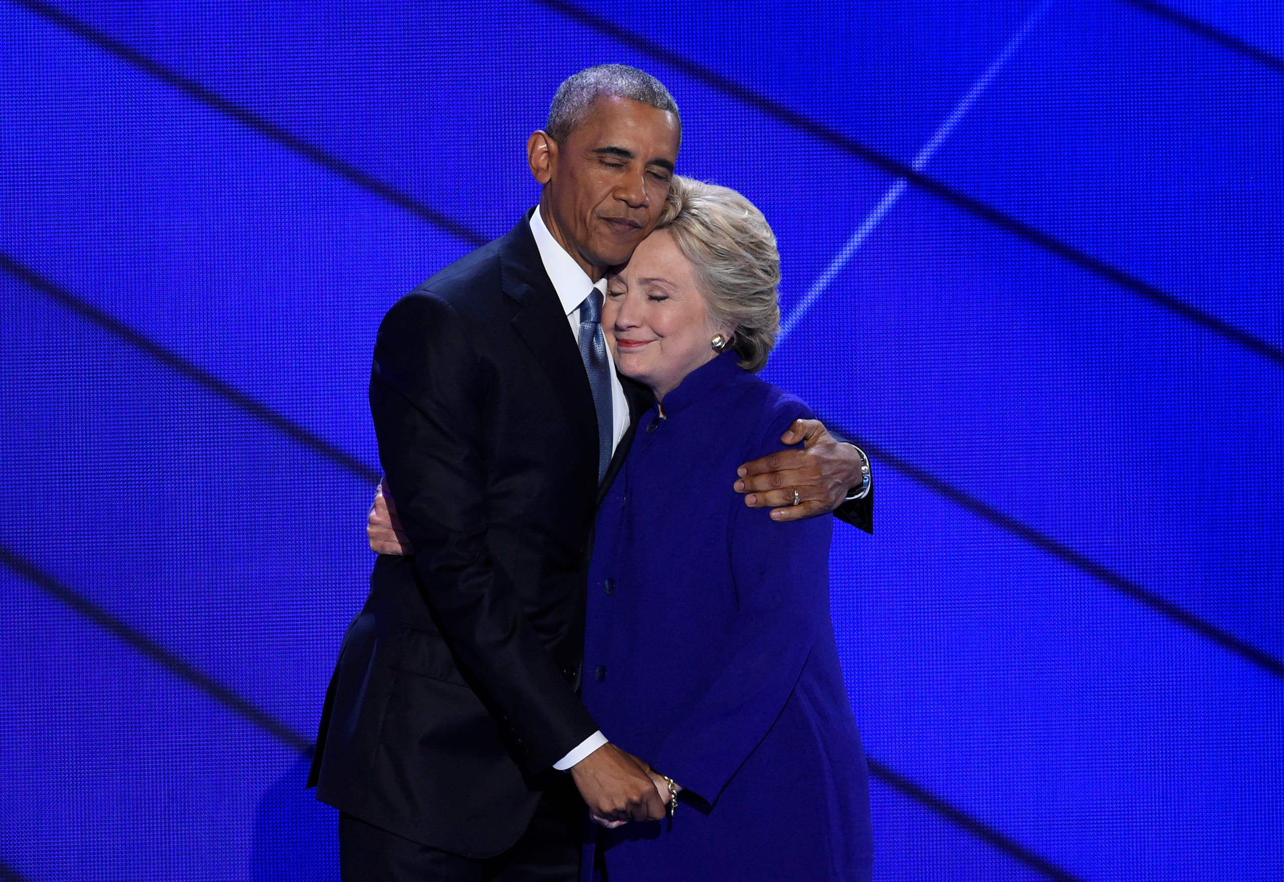 US President Barack Obama and Hillary Clinton. (AFP)