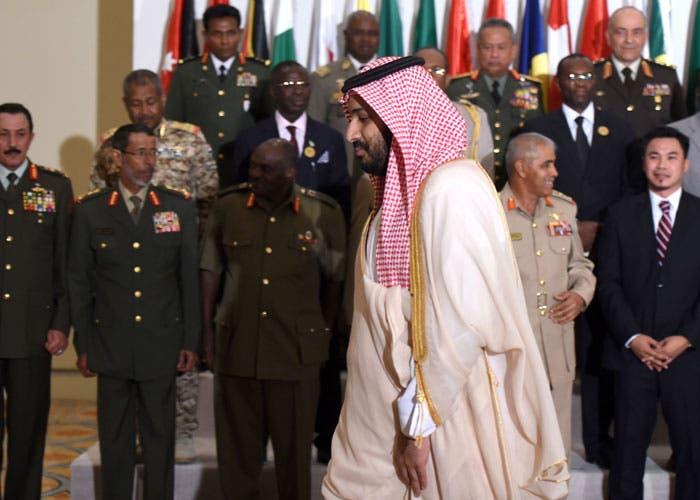 محمد بن سلمان ورؤساء أركان التحالف الإسلامي