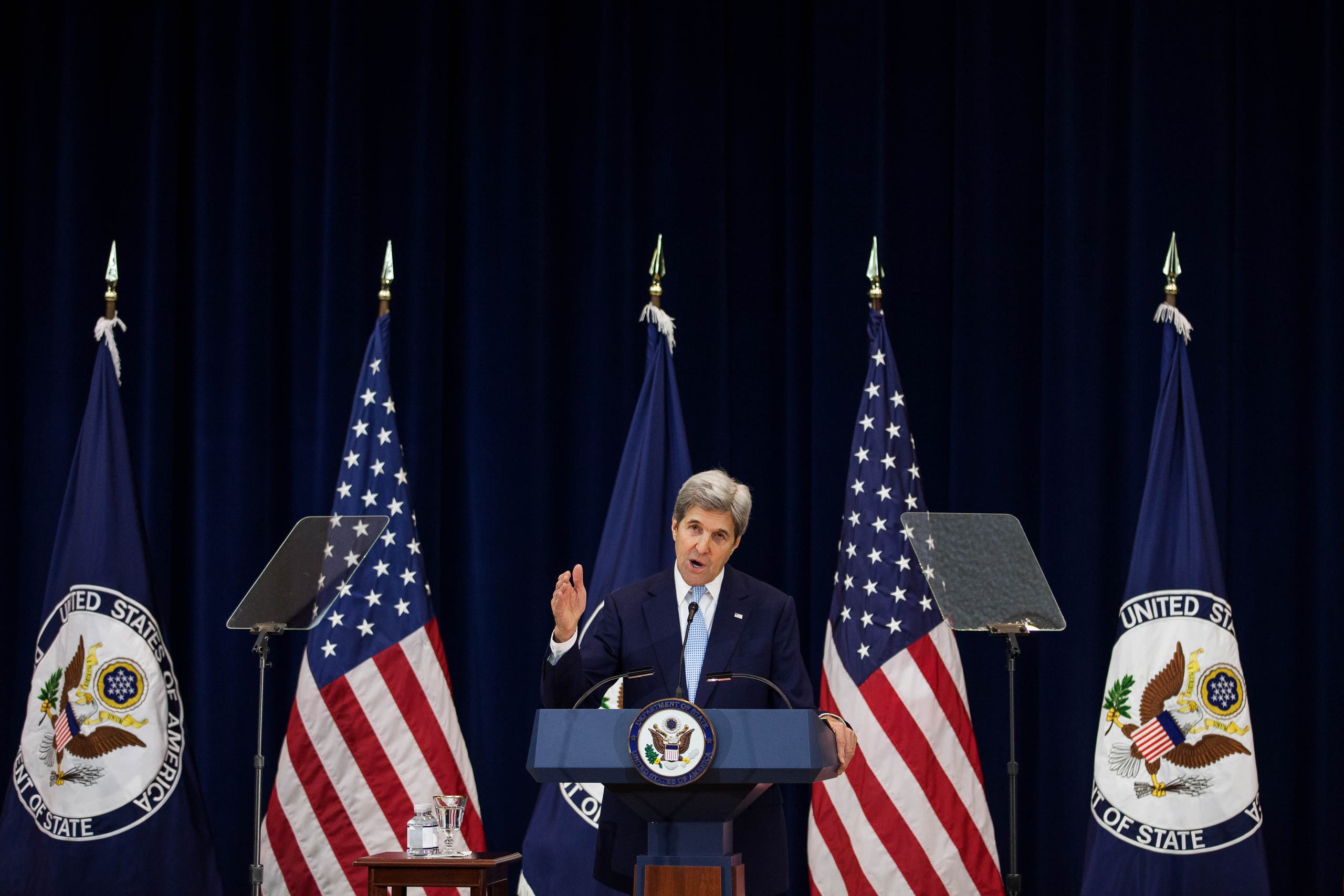 Saudi Arabia has welcomed the proposals put forth by US Secretary of State John Kerry on a final settlement of the Palestinian-Israeli conflict. (AFP)