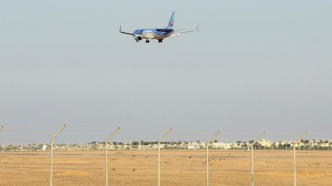 A Metrojet airplane lands at the airport of the Red Sea resort of Sharm el-Sheikh.