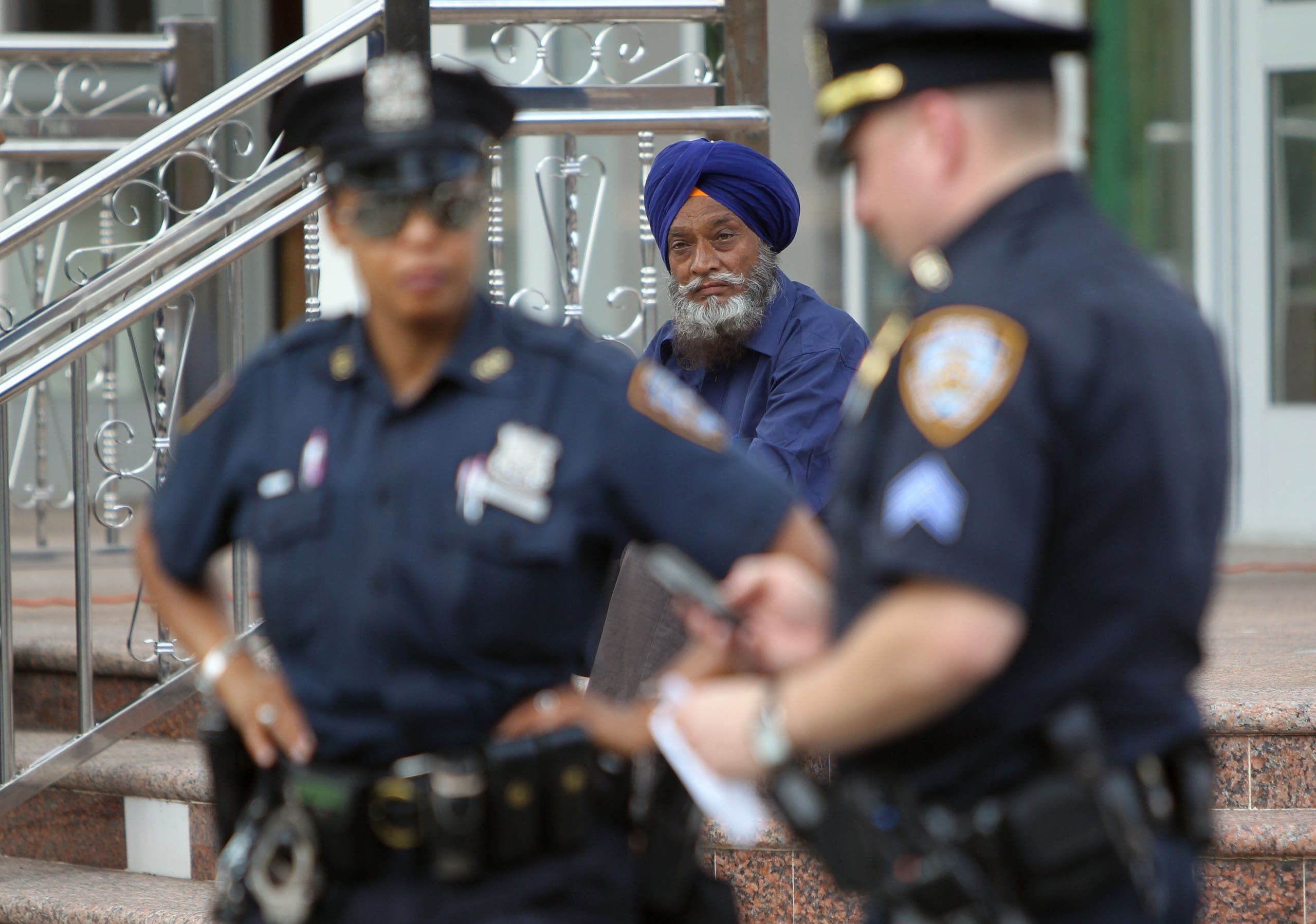The revised policy, expected to be finalized next month, comes after a Muslim policeman filed a complaint against New York police last summer when he was suspended for wearing a beard that did not comply with regulations. (AFP)